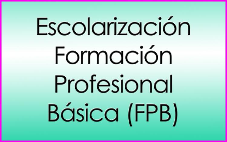 Escolarización FPB