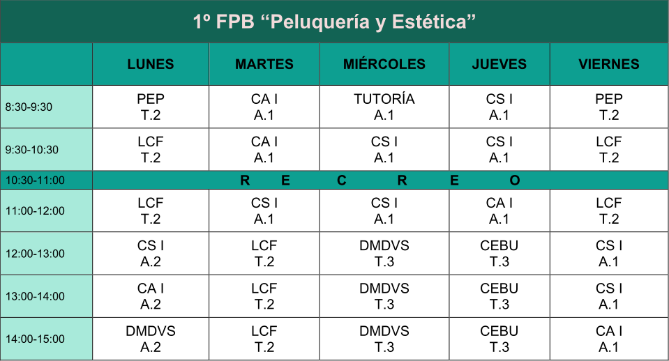horario primero fpb centro jorbalan