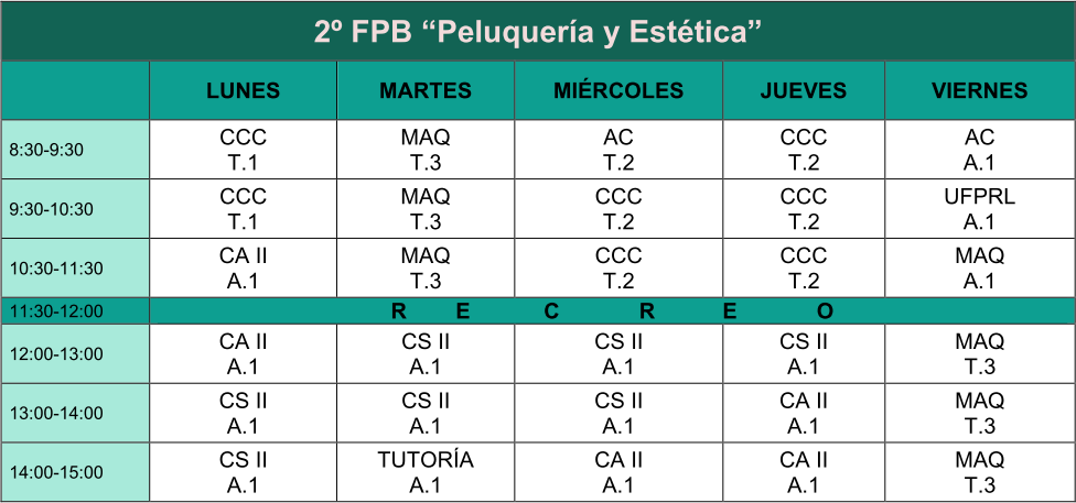 horario segundo fpb centro jorbalan