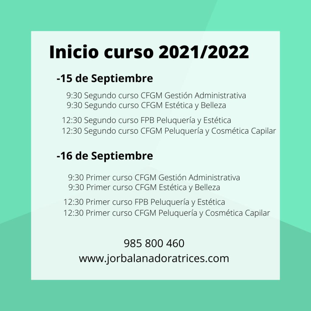 Inicio curso Centro Jorbalan 2021/22